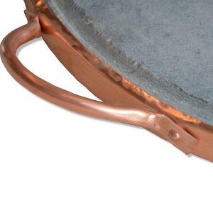 Pietra ollare tonda 40 cm con telaio in rame